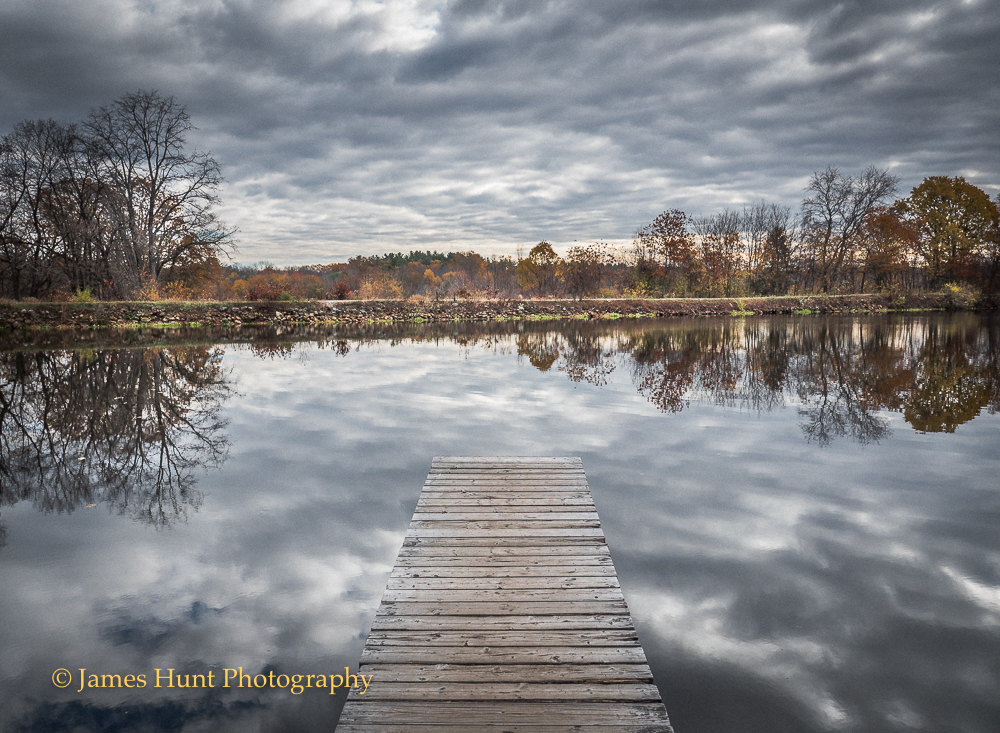 Dock along the Blacksstone Canal in Fall - 2016